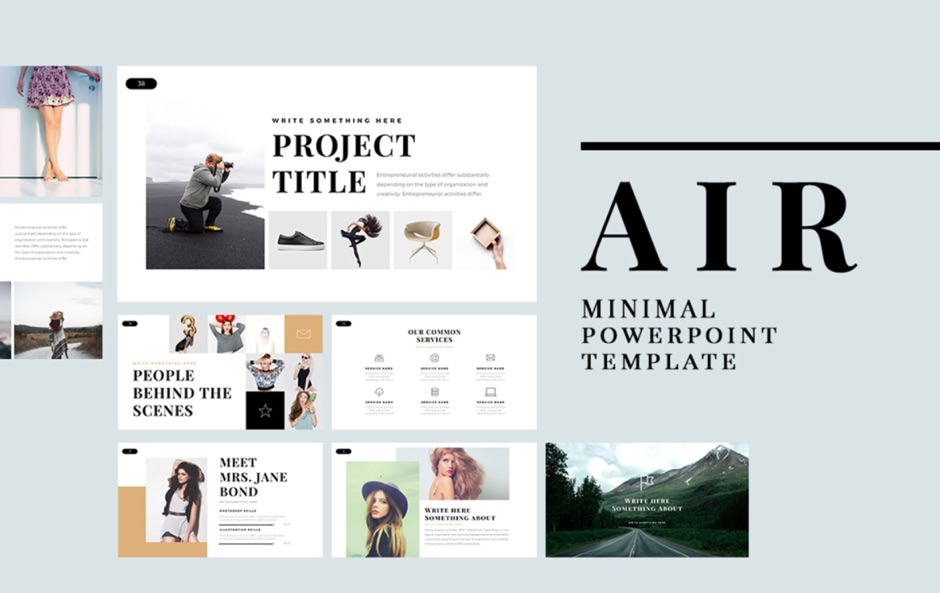 AIR Free PowerPoint Template