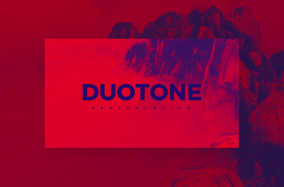 DUOTONE Free PowerPoint Keynote Template