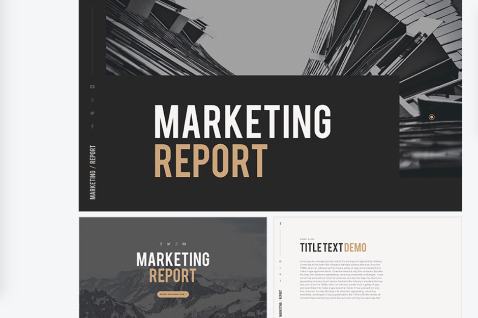 Marketing Report Free PowerPoint Keynote Presentation Template