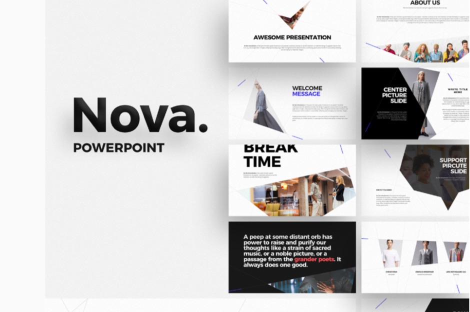 Nova Free PowerPoint Keynote Presentation Template