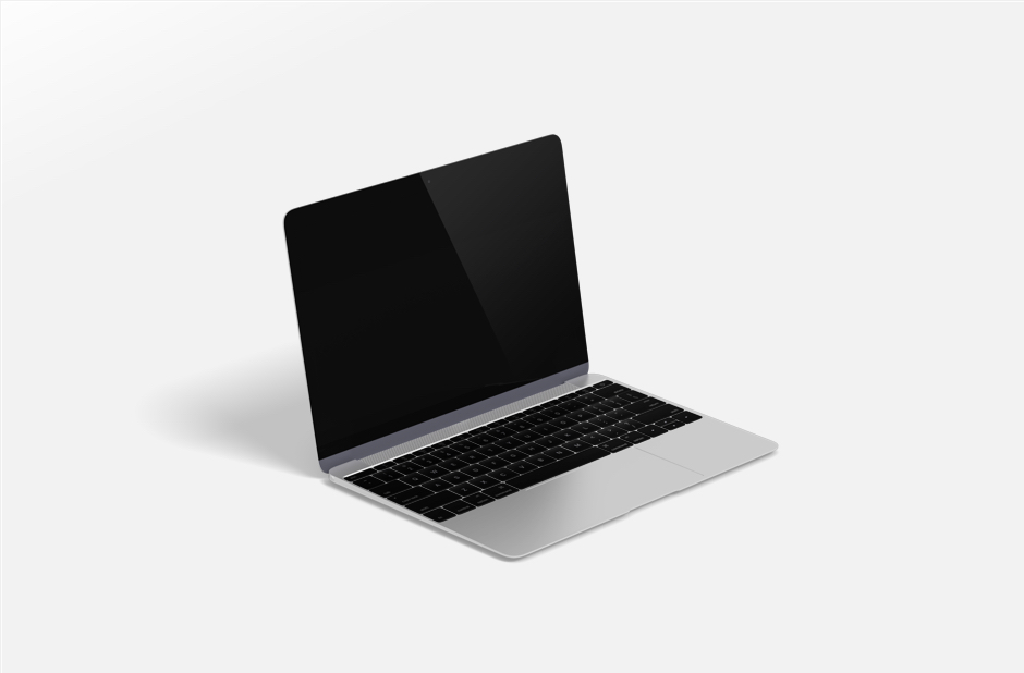 Presentation PPT design free resource - Macbook mockup