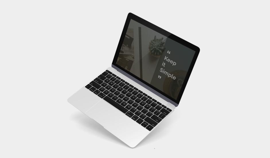 PPT 디자인을 위한 MacBook Mockup 무료 소스