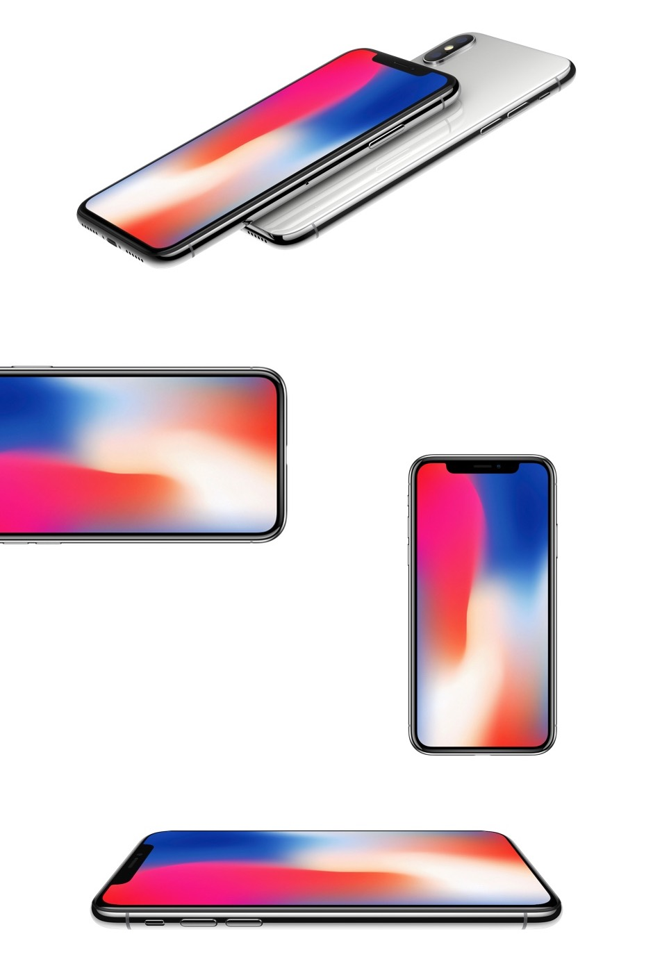 Presentation PPT design iPhoneX mockup