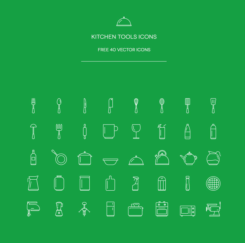 Free Kitchens Icons Vector