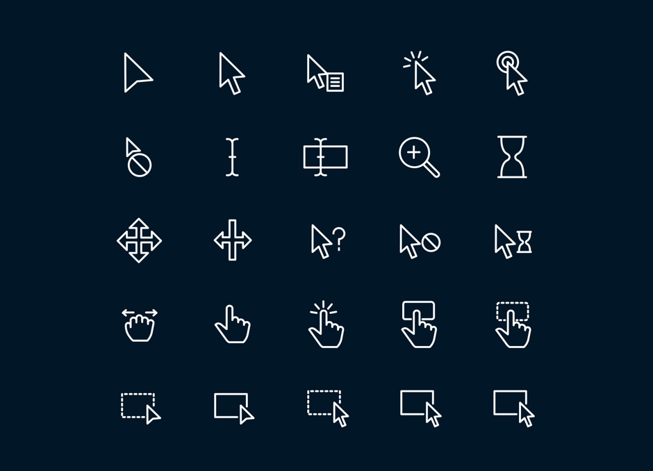 Cursor Selection free icons Dark