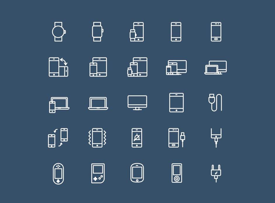 Device free icons vector