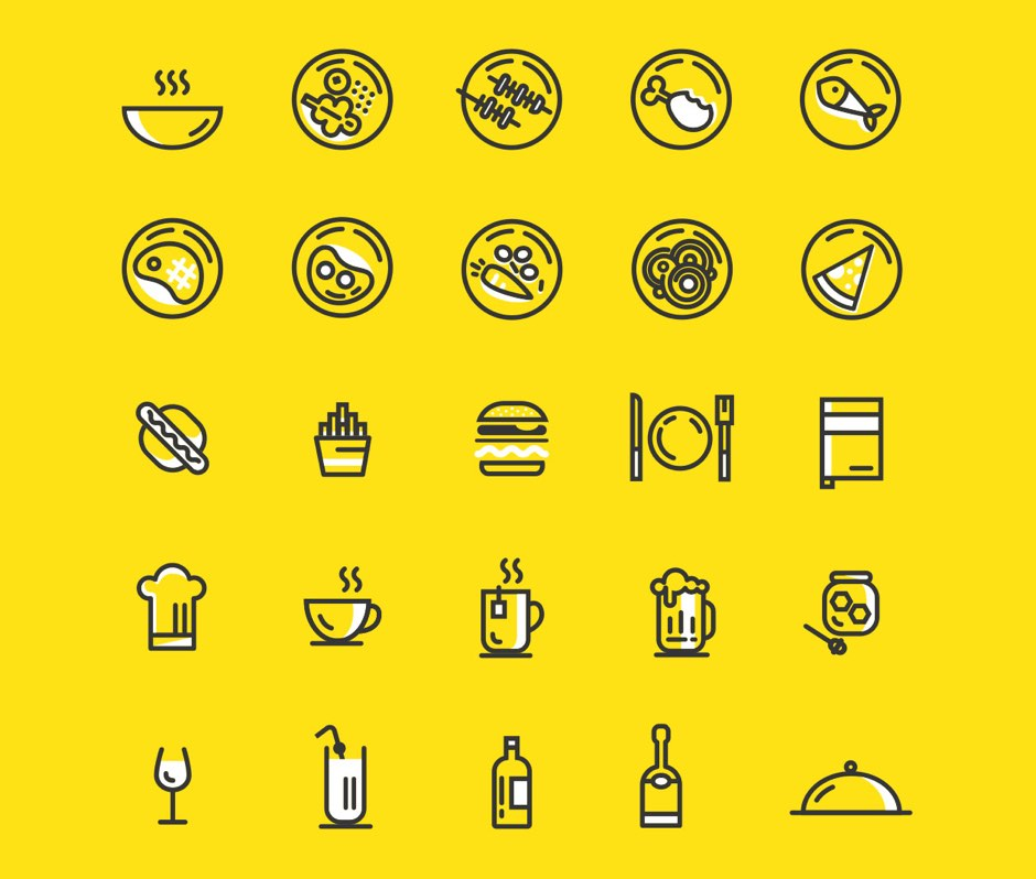 Food free icons vector