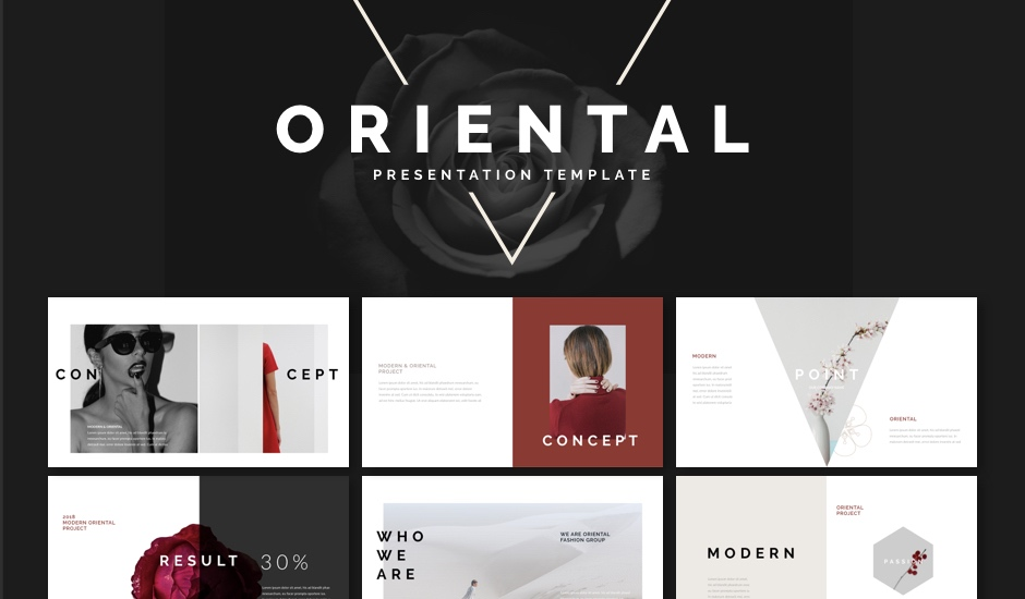 Oriental Powerpoint Keynote Presentation Template