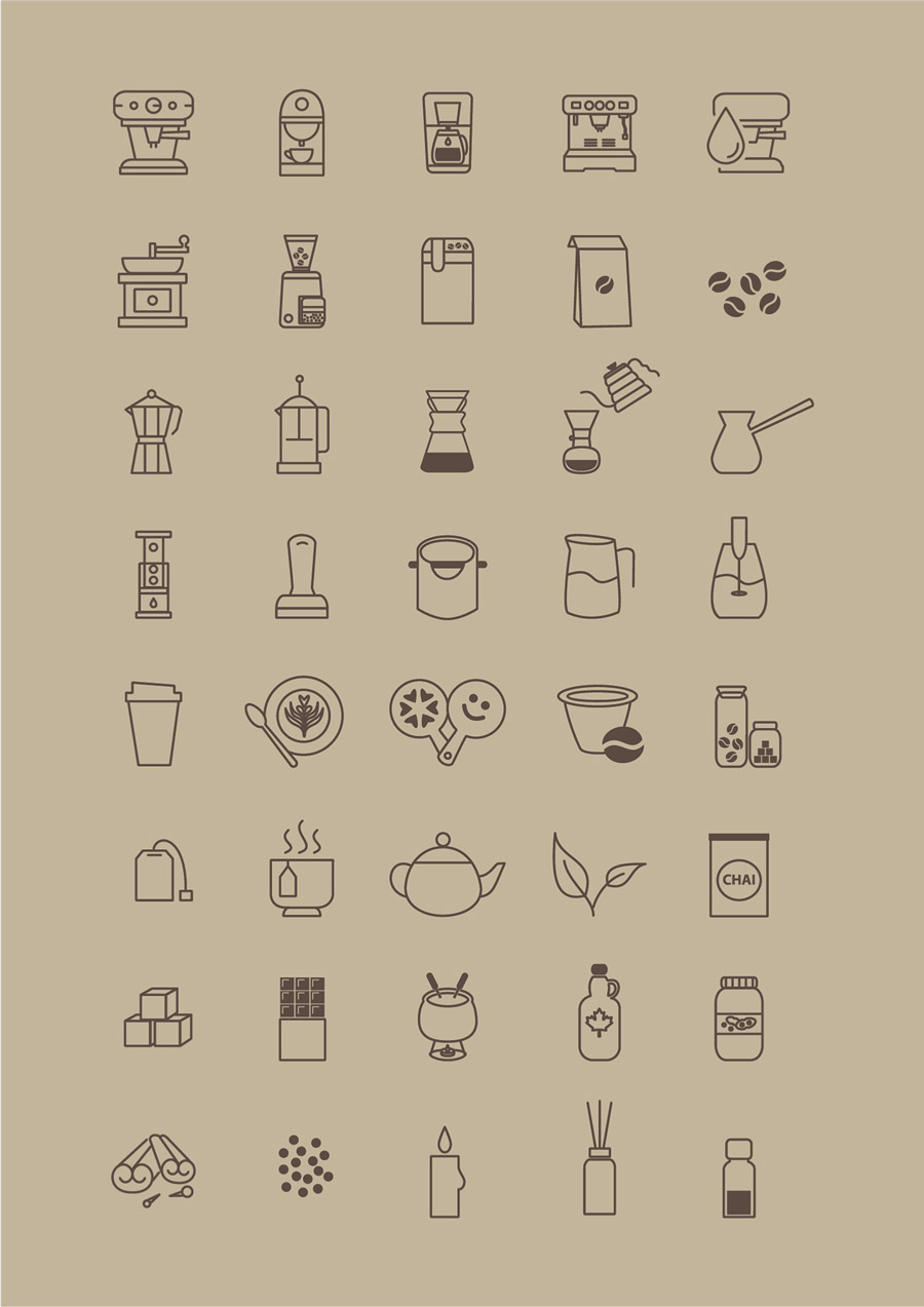 Free Coffee Store Icons Vector