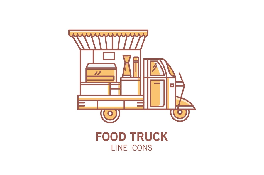 Food Truck free icons vector