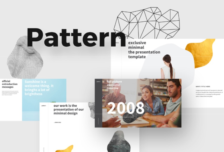 Pattern Free PPT Template Powerpoint Keynote Presentation Template Freebies