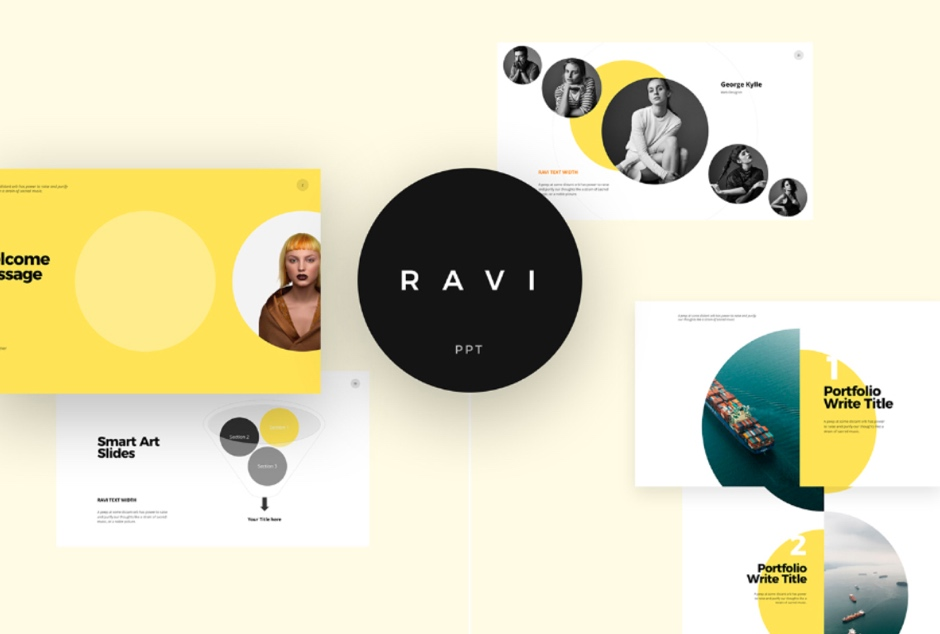 Ravi Free PPT Template Powerpoint Keynote Presentation Template Freebies
