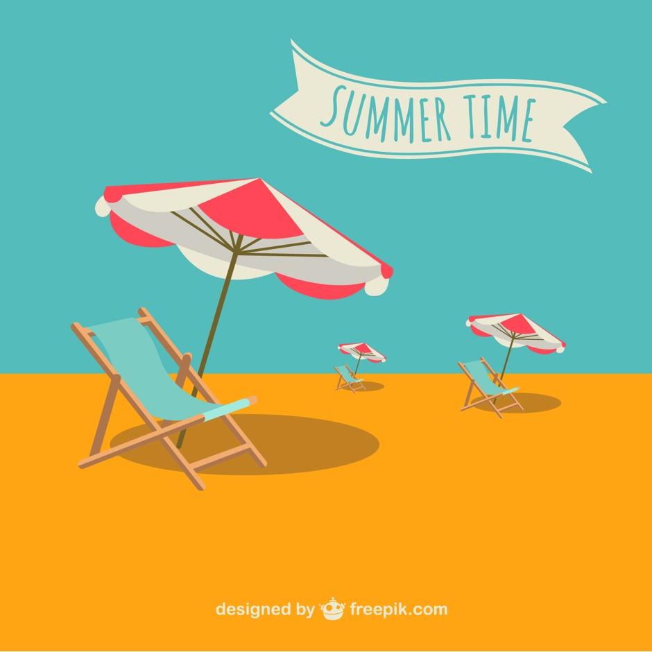 Summer time vector illustration ppt resources freebies