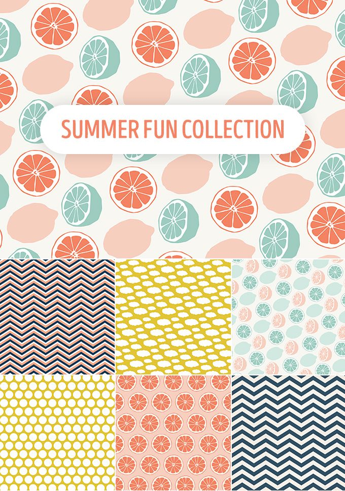 Summer pattern vector illustration ppt resources freebies