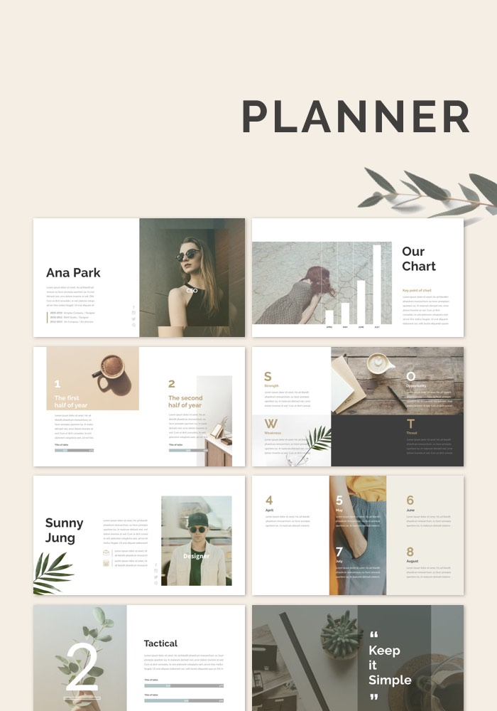 Planner PowerPoint Keynote Presentation Template