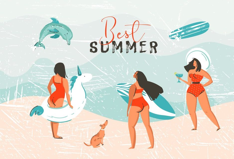 여름 PPT 디자인을 위한 무료 일러스트&패턴&아이콘
