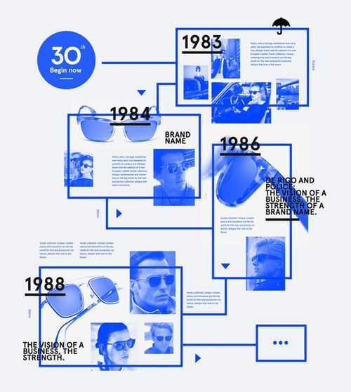 PPT Design Inspiration: Timeline designs