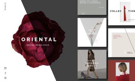 Oriental 소셜 미디어 팩