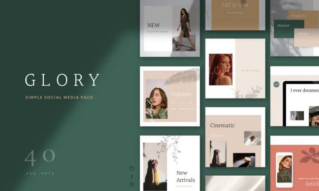 Glory 소셜 미디어 팩