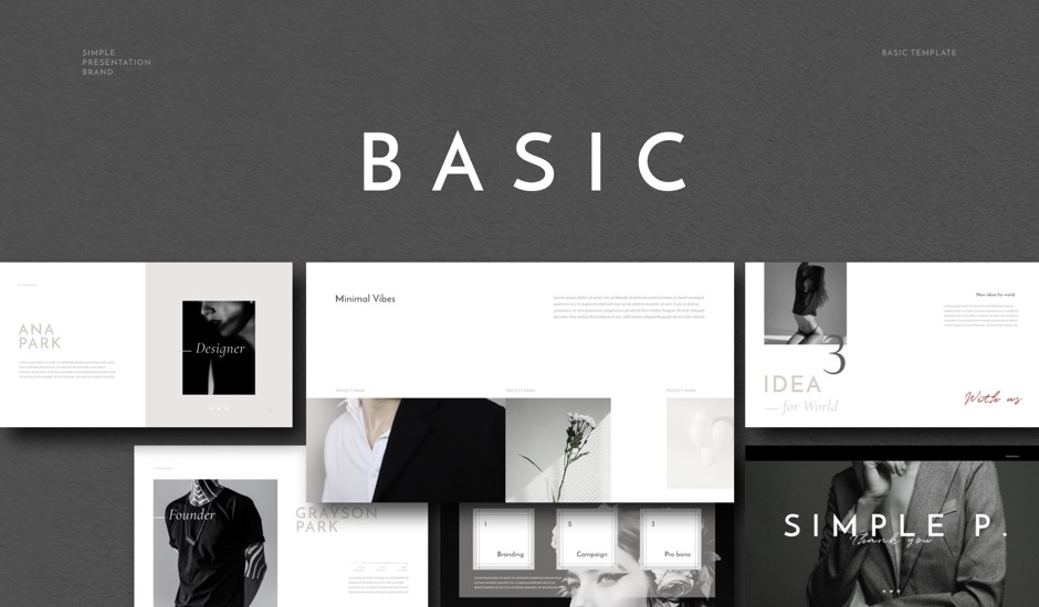 Basic PowerPoint Keynote Presentation Template
