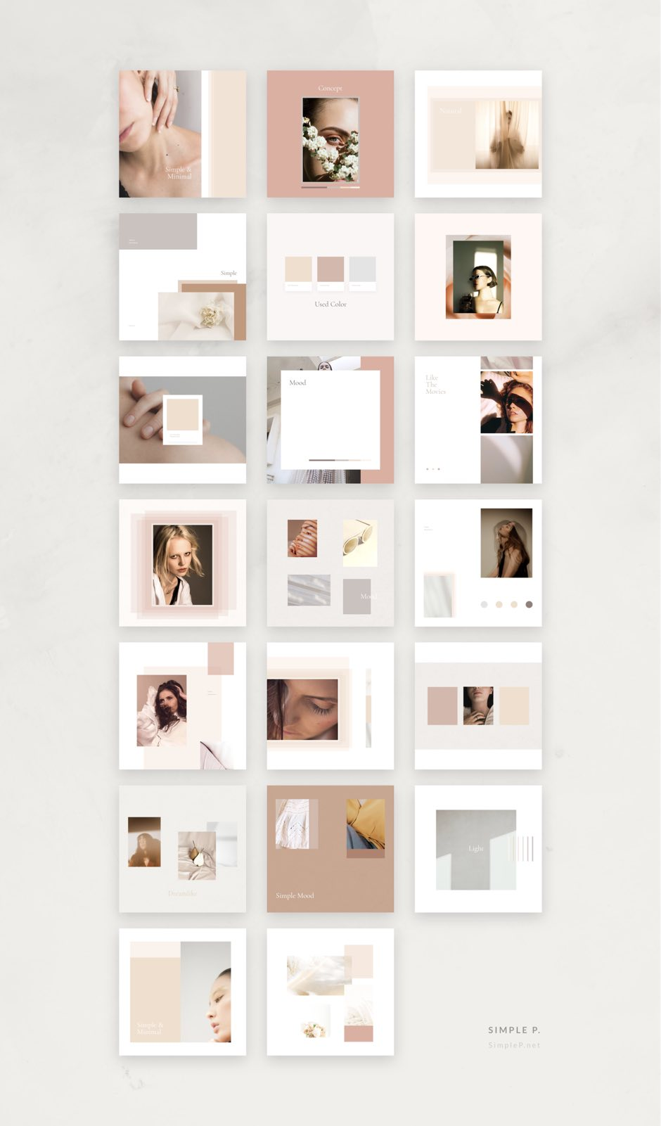 Rose Mood Board Pack