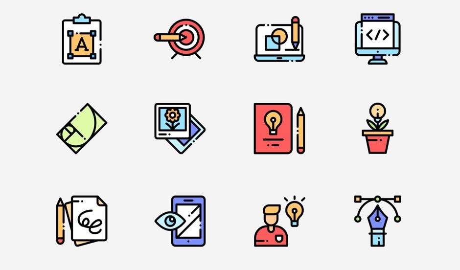 PPT 디자인을 위한 비즈니스 업무 무료 아이콘