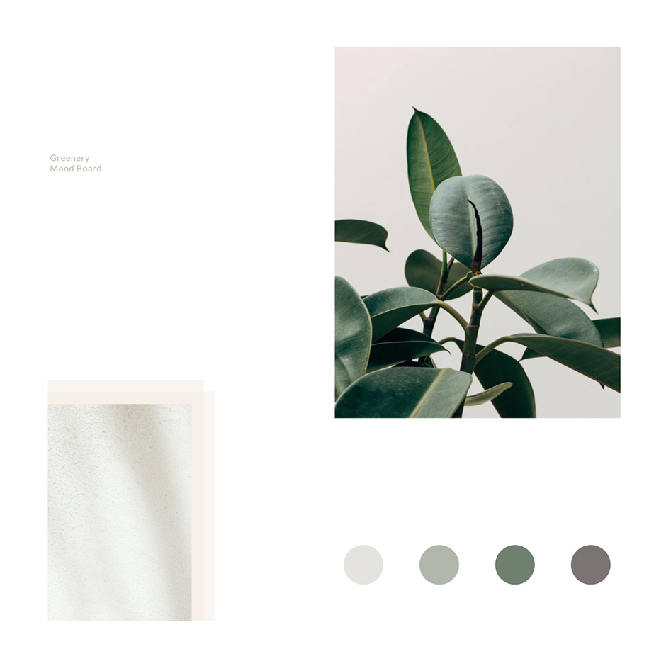 Greenery, Gardening, Botanic Mood Board