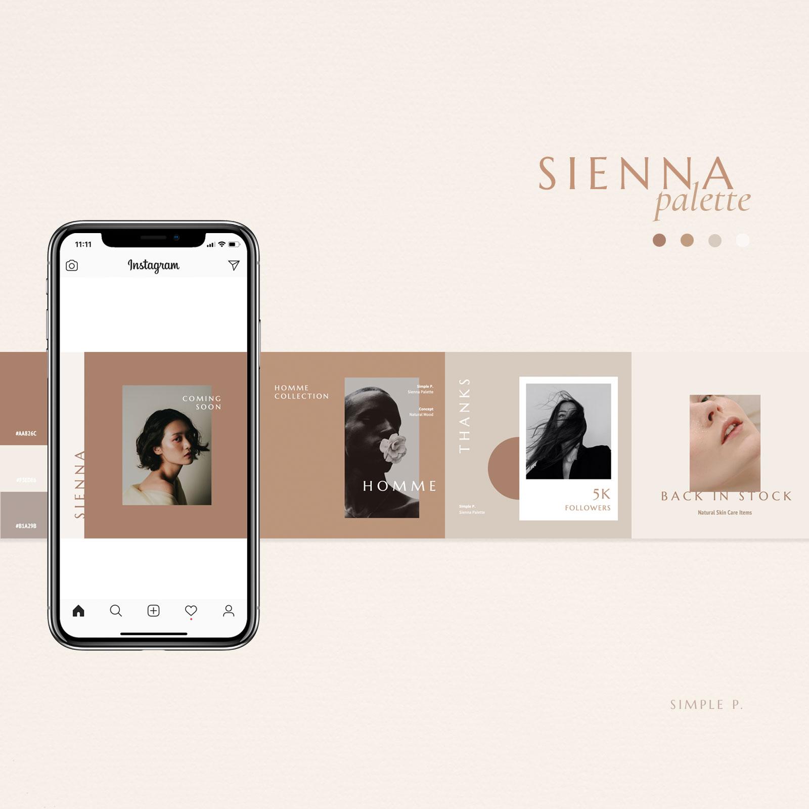 Sienna Palette Social Media Pack