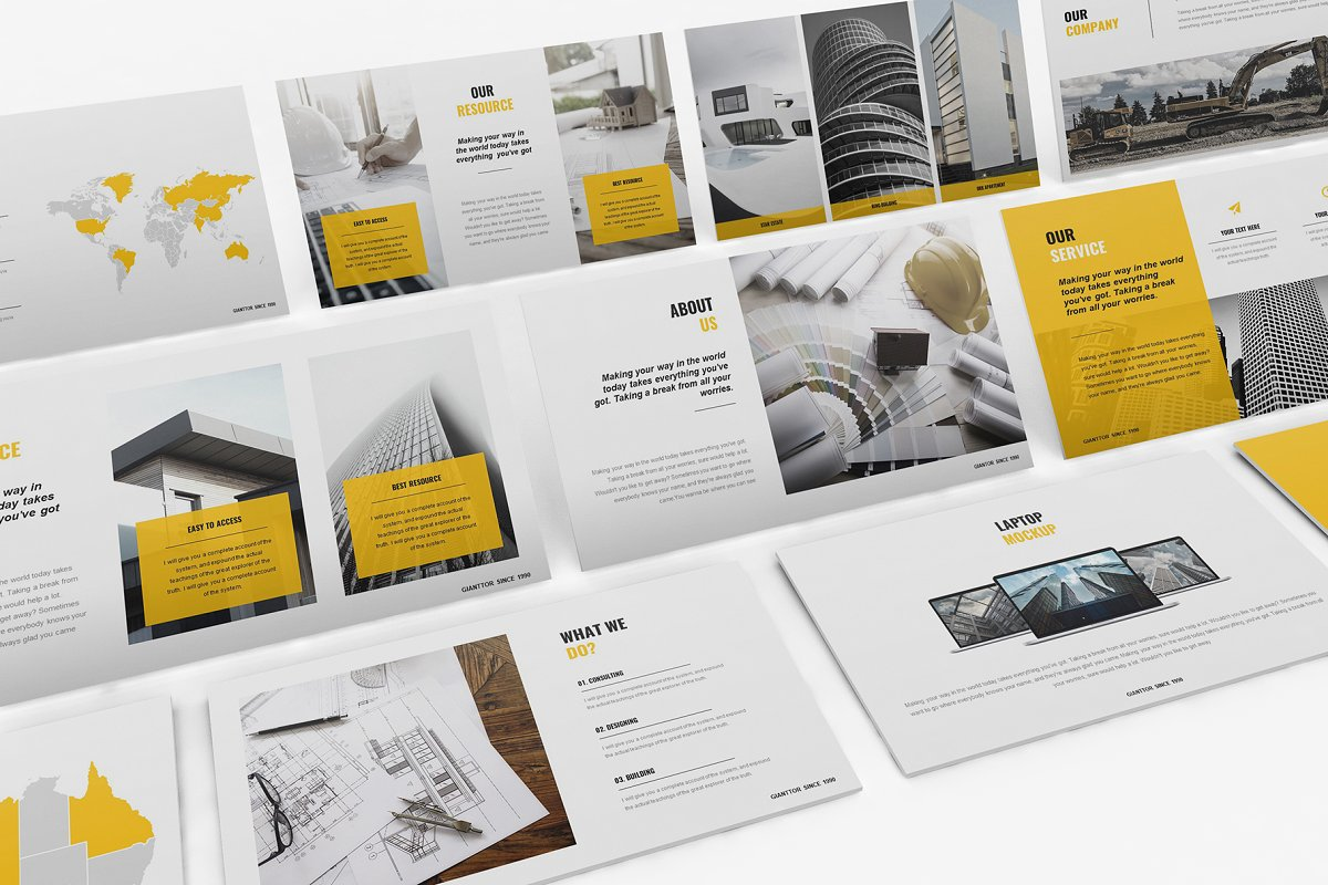 Yellow Presentation Template