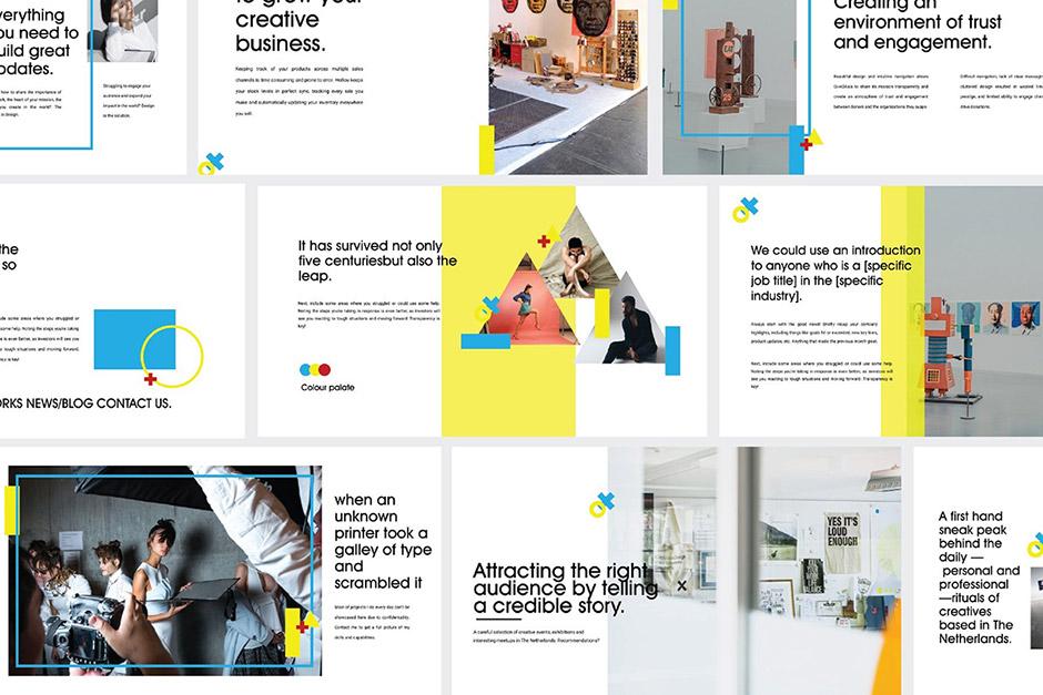 Yellow Free Presentation Template
