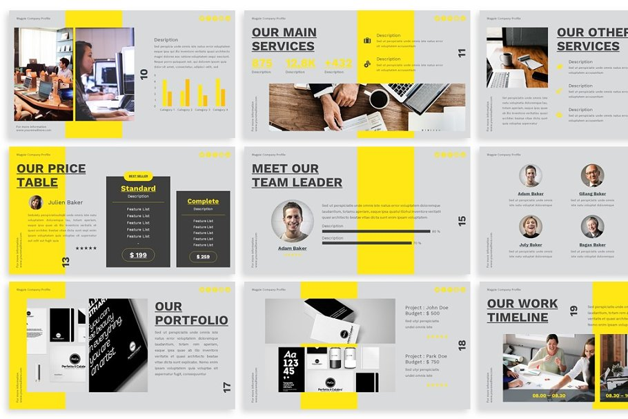 Yellow Presentation Template