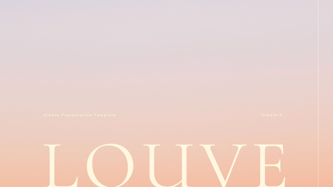 Louve PowerPoint Cover Free